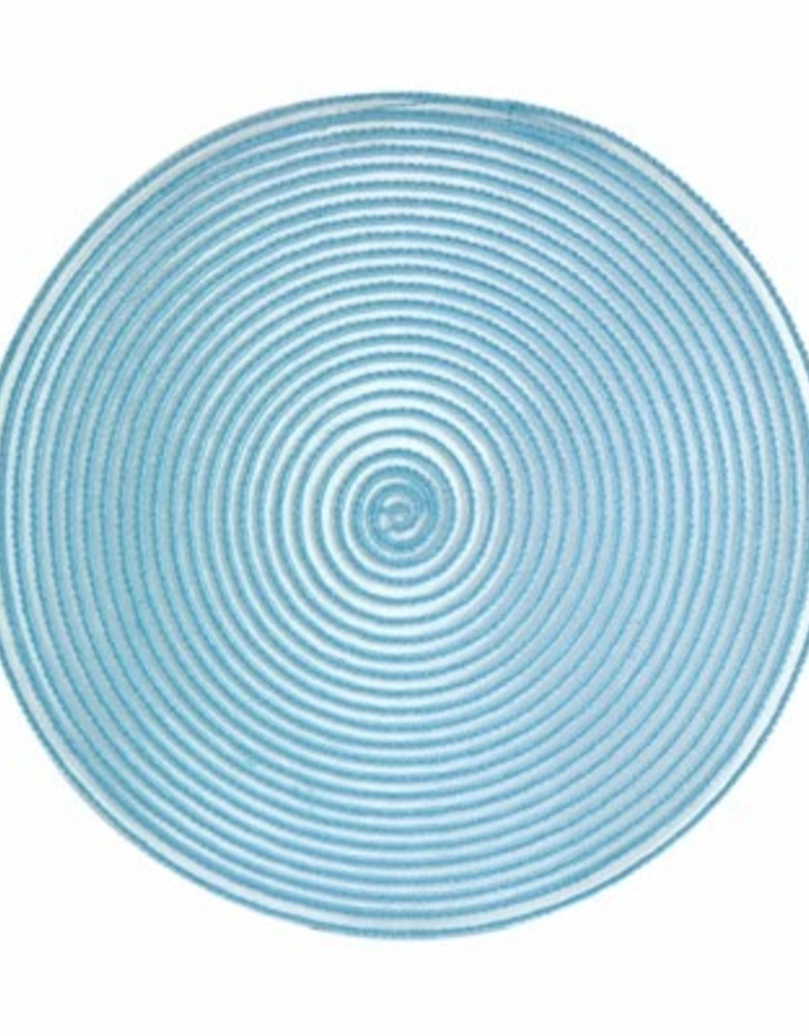 Placemat Harman Sheer Round Aqua