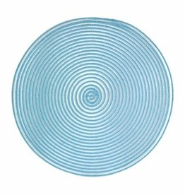 Placemat Harman Sheer Round Aqua