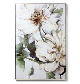 Art Framed CJ Large White Flowers