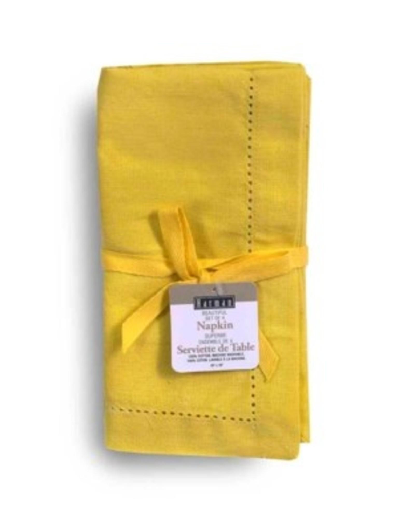 Napkins Harman Vienna Linen S/4 18x18 Yellow