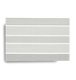 Placemat Harman Ribbed Stripe 13x19 Grey
