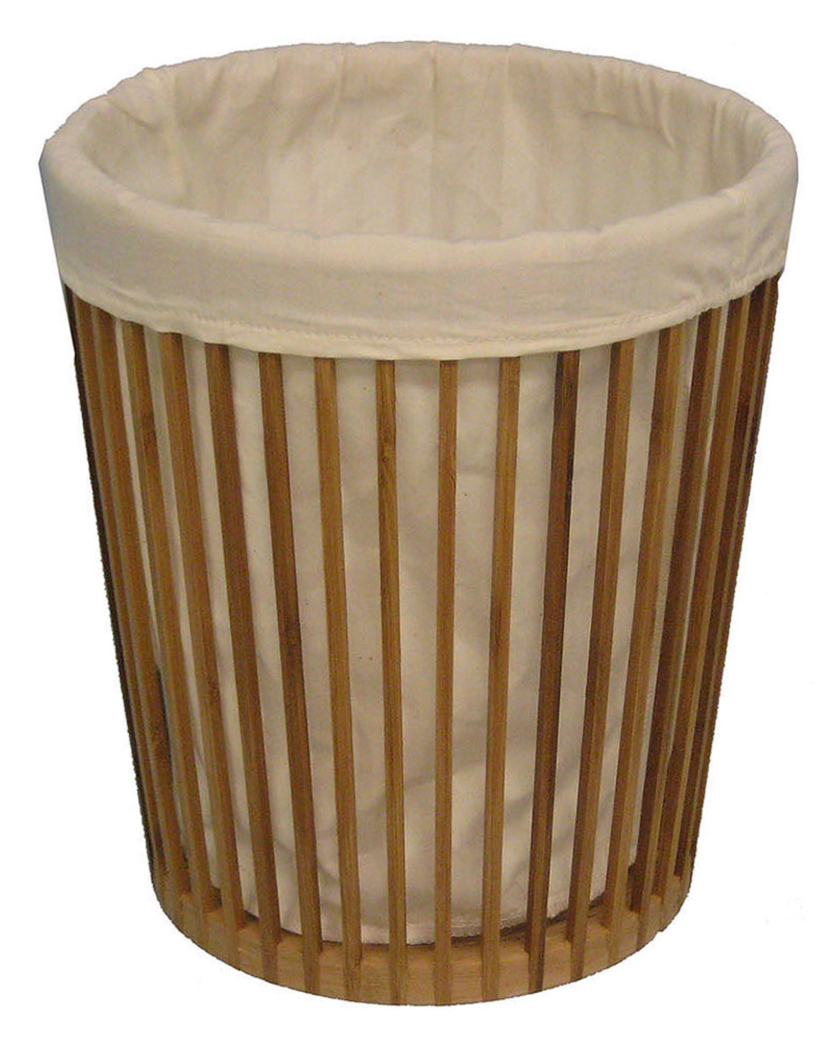 Cathay Basket Cathay Bamboo Round Bin W/Liner 23-0081
