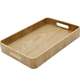 """Cathay Basket Cathay Bentwood Tray 16""""L 10-2461"""