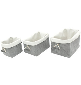 """Cathay Basket Cathay Fabiola Linen Square 9""""10-2396"""