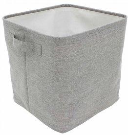 "Cathay Basket Cathay Grey Square 12.5""L 10-2444"