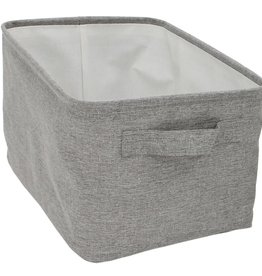 """Cathay Basket Cathay Grey Rectangle 15"""" L 10-2447"""
