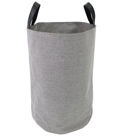 """Cathay Basket Cathay Grey Round Tall Basket 15"""" D 10-2449"""