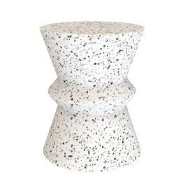 LH Imports LH Terrazzo Hourglass Side Table VT074