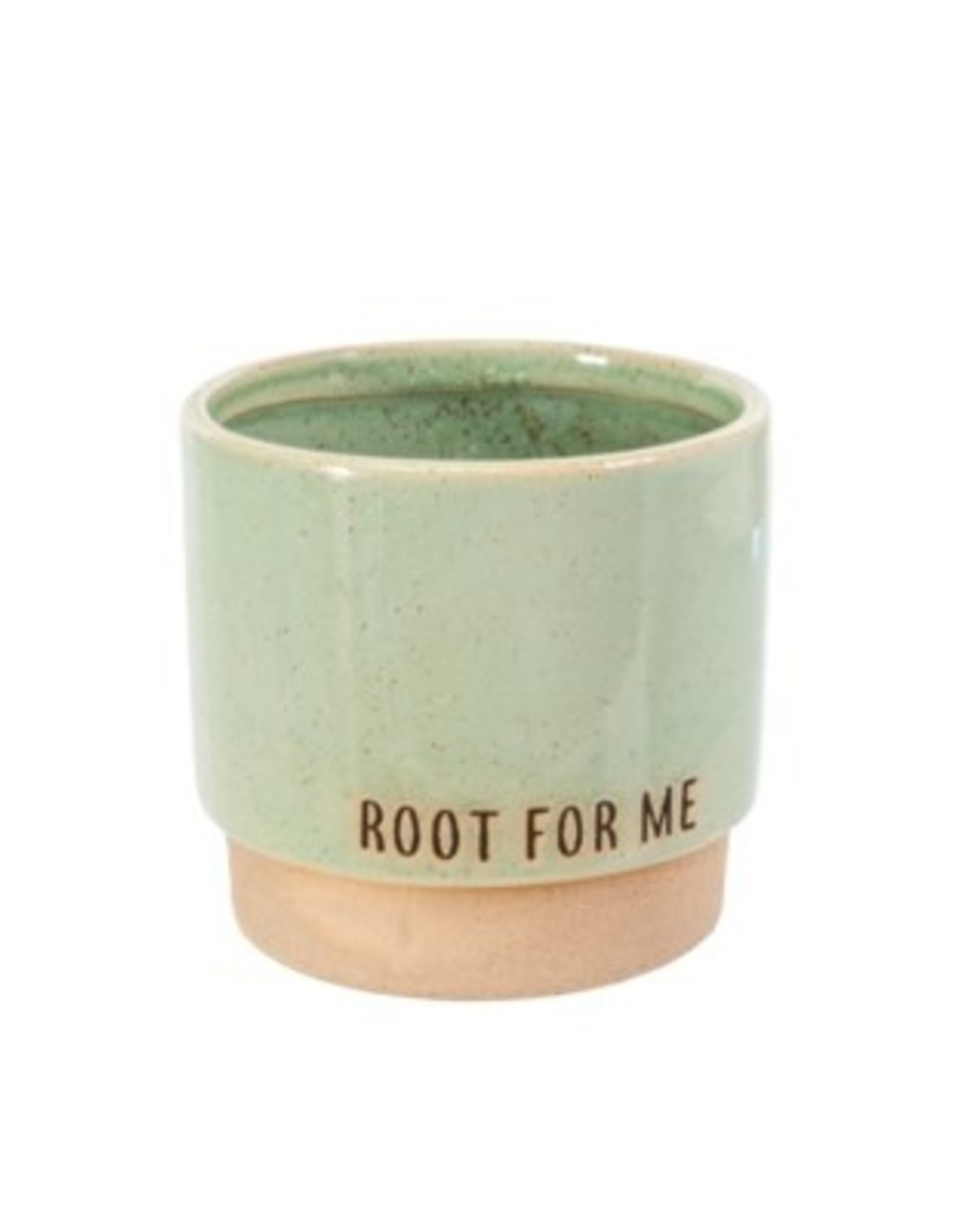 Indaba Planter Pot Indaba Root For Me Green