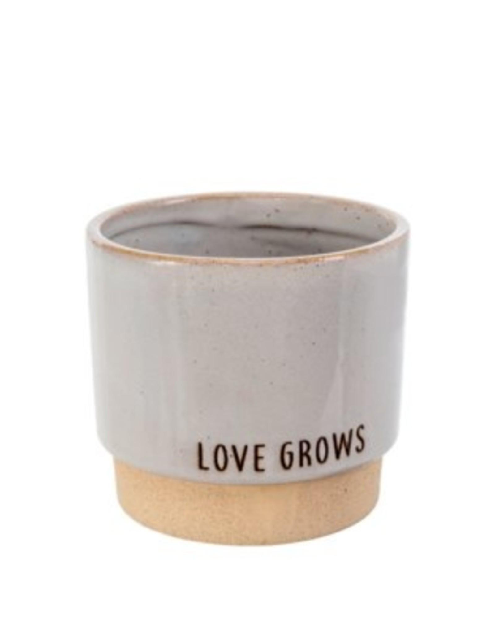 Indaba Planter Pot Indaba Love Grows Stone
