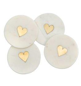 Indaba Coasters Indaba Sweet Heart Set/4
