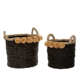Indaba Basket Indaba Cosimo Seagrass Black SM