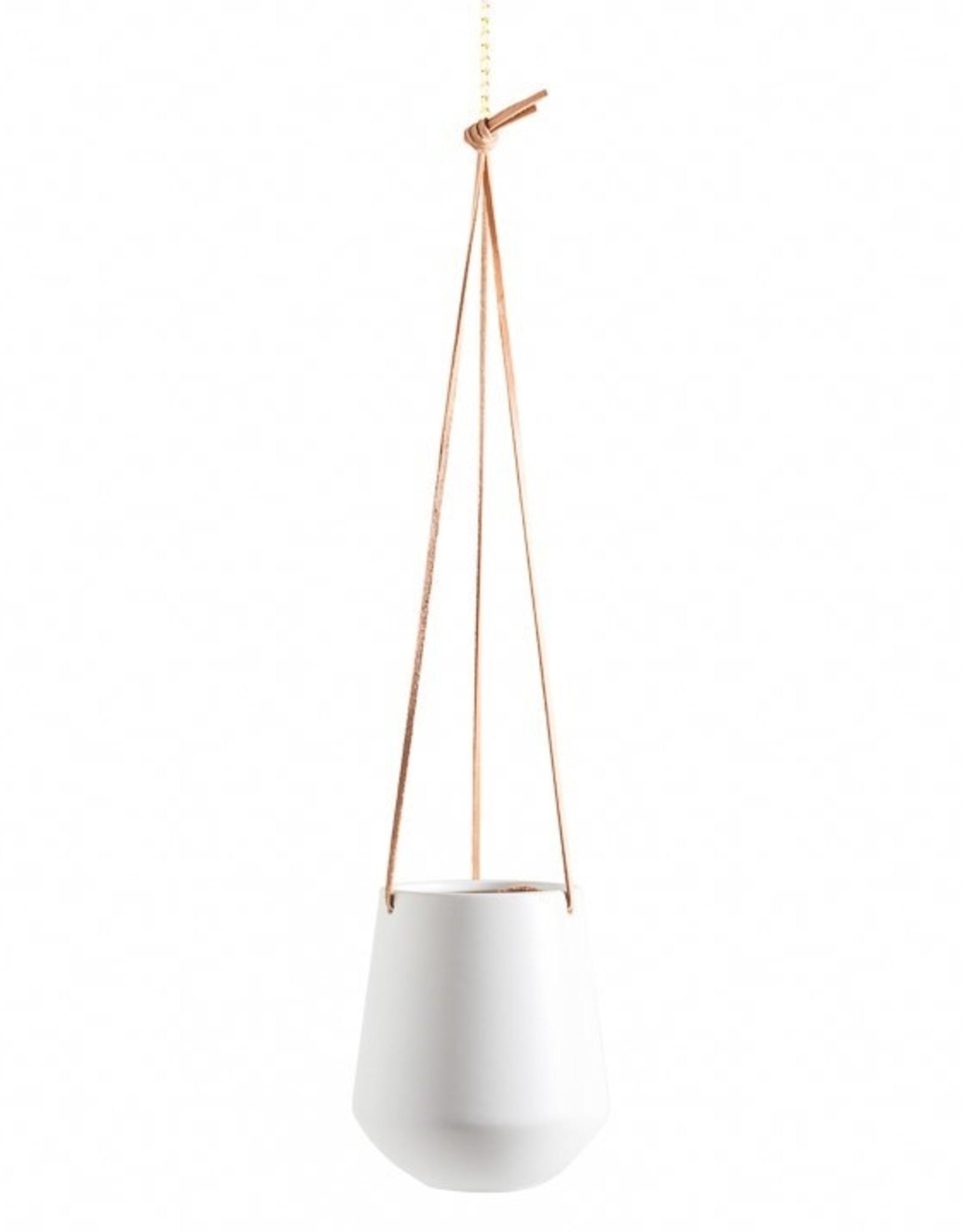 """Planter Torre & Tagus Hanging Ceramic Ashbury White 5.75"""" 902919B"""
