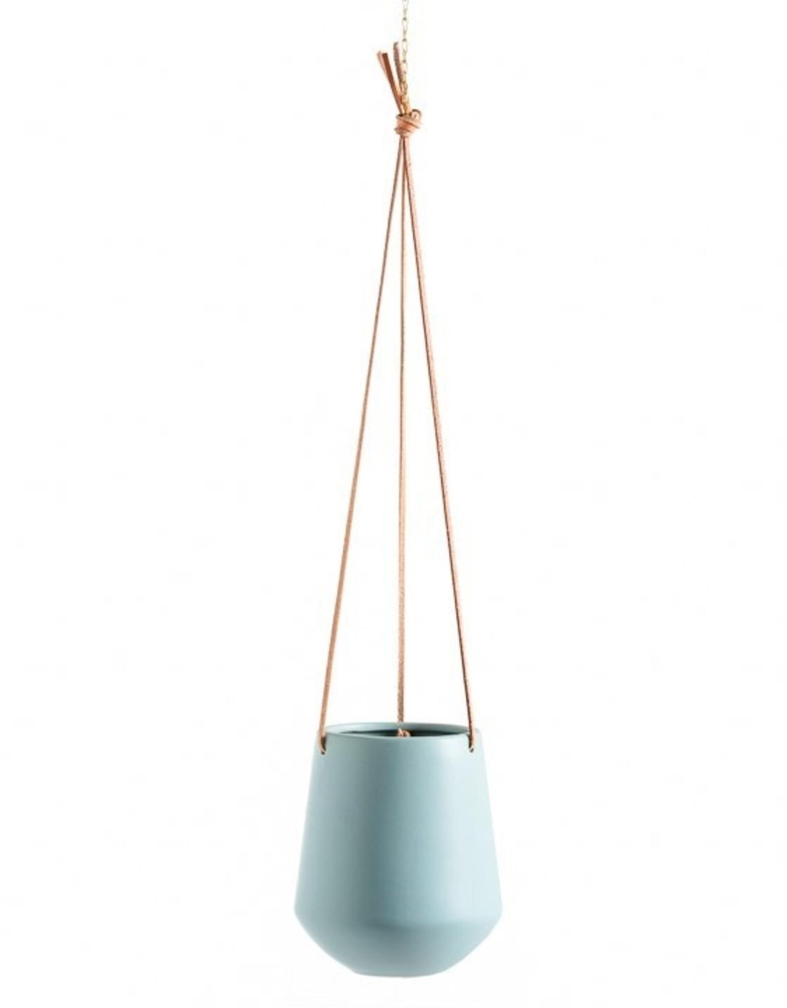"""Planter Torre & Tagus Hanging Ceramic Ashbury Teal 5.75"""" 902921B"""