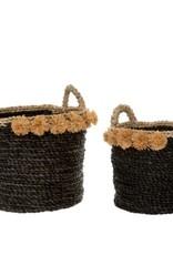 Indaba Basket Indaba Cosimo Seagrass Black LG