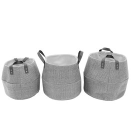 Cathay Basket Cathay Fabiola Linen Round Small