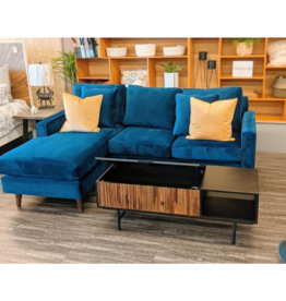 Stylus Amy  Sectional in Royal Cobalt (15) 2/ pc