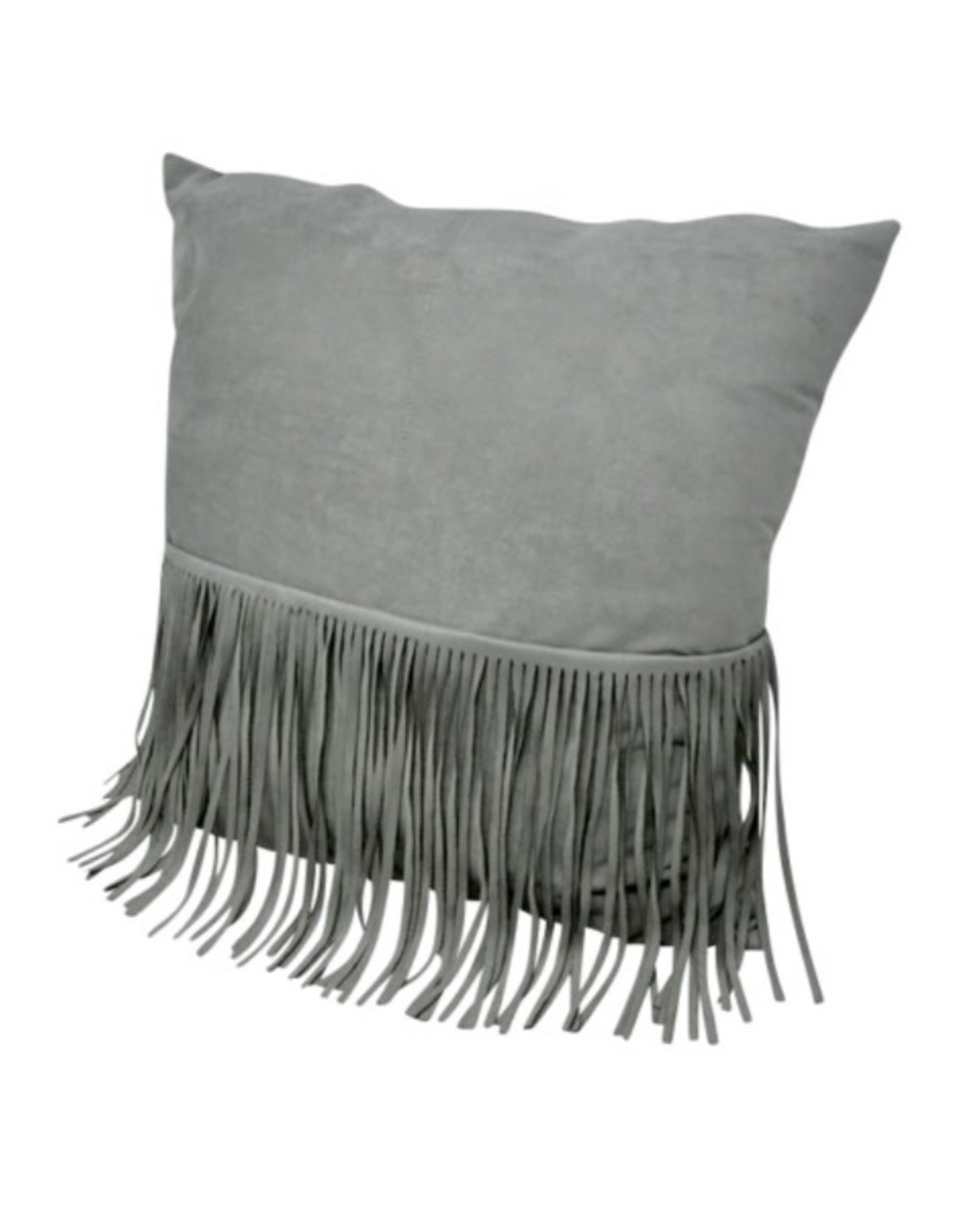 Nostalgia Cushions Nostaglia Grey Fringe