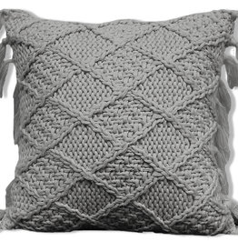 Alamode Home Cushions RJS Knitted Grey