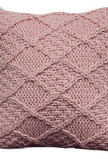 Alamode Home Cushions RJS Euro Toss Knitted Pink Coachella
