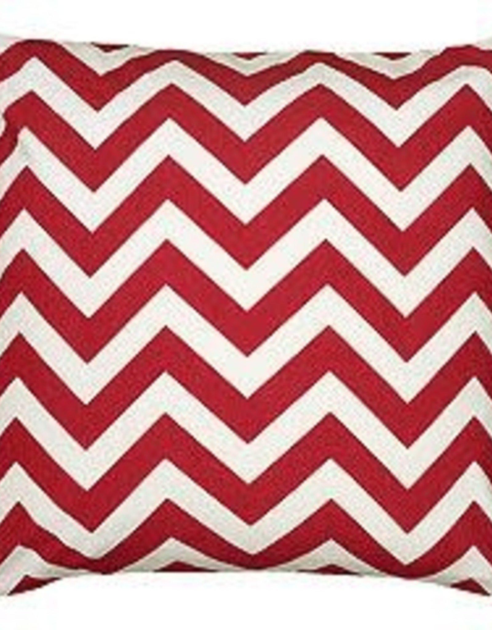 Cushions Nutcracker Red Chevron Double Side