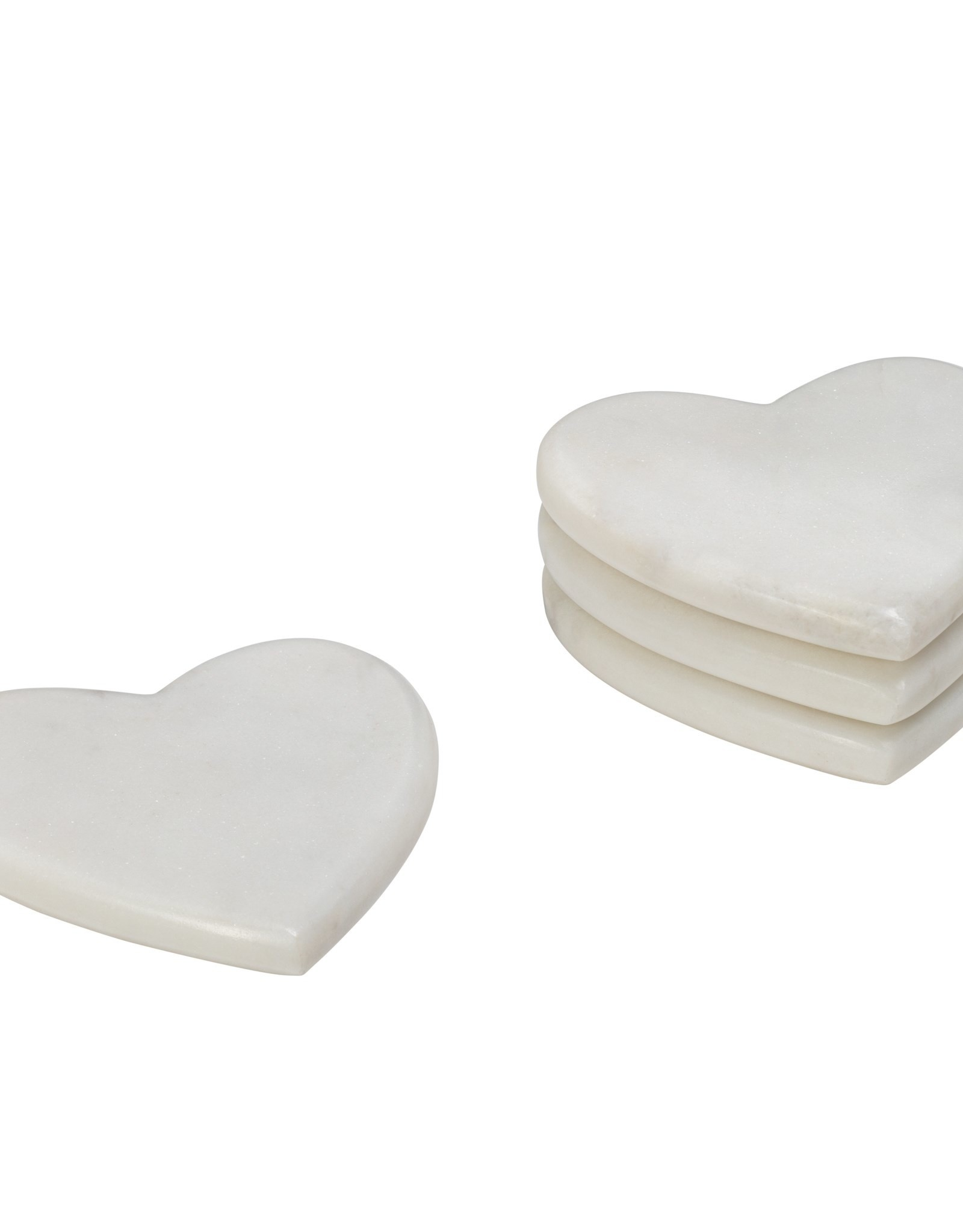 Coasters Torre & Tagus Heart Marble S/4