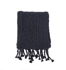 Indaba Throw Indaba Cotton Knit Dark Grey 50 x 60