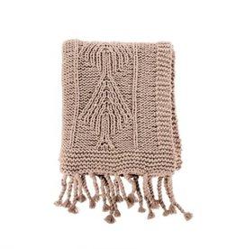 Indaba Throw Indaba Cotton Knit Beige 50 x 60