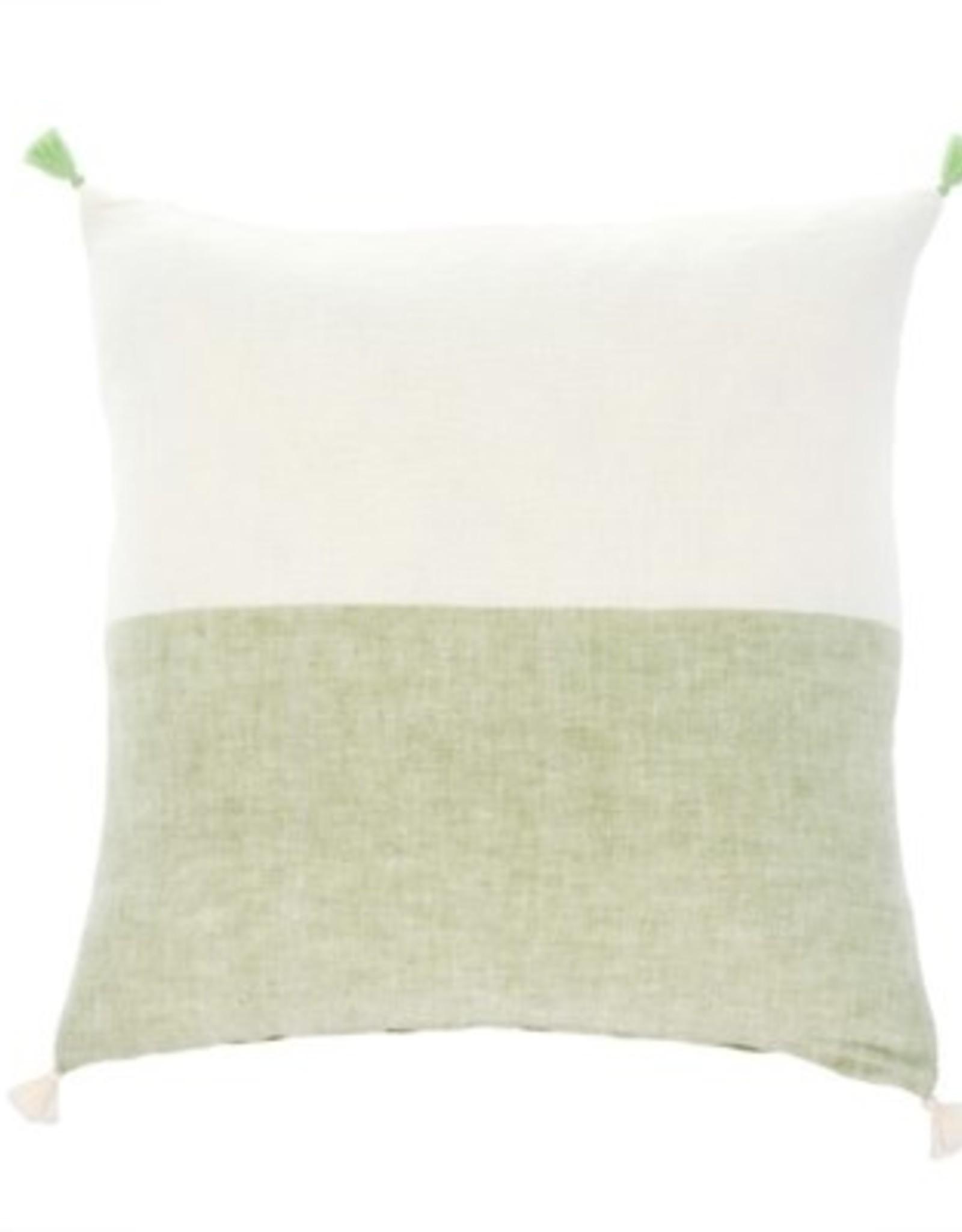 Indaba Cushions Indaba Layla Linen Green 20 x 20