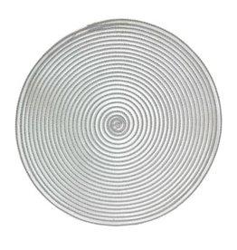 Placemat Harman Sheer Round  Grey