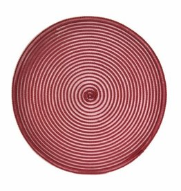 Placemat Harman Sheer Round  Red