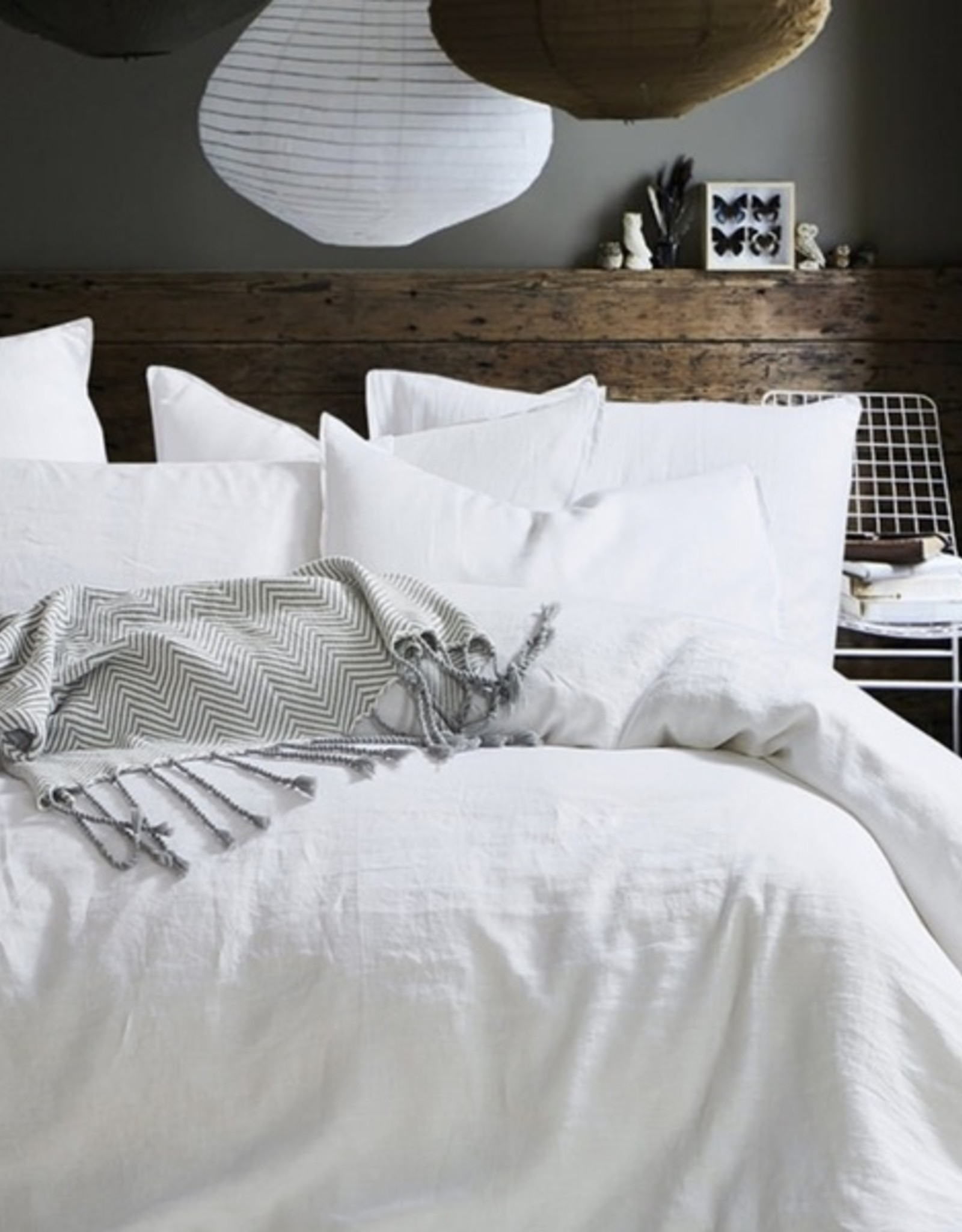 Daniadown Duvet Set Daniadown Star White Linen Queen w / Pillow Cases
