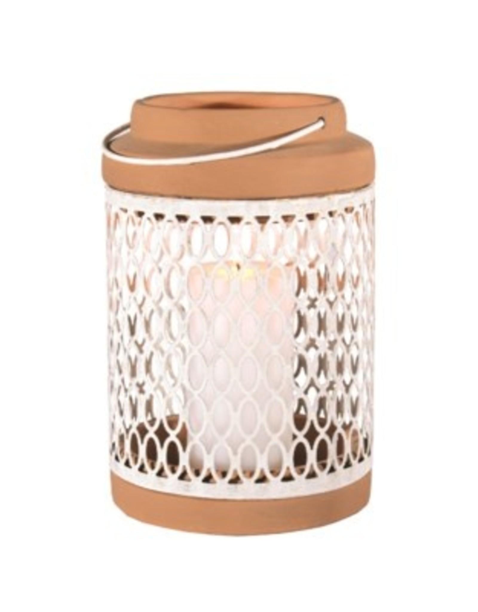 "Lantern Candym  Metal / Clay 11"" RT1401"