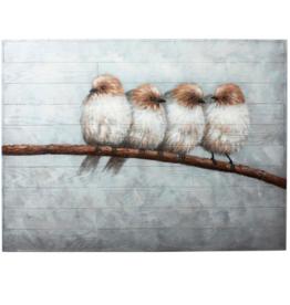 Art CJ 4 White Birds on Branch