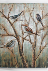 Art CJ 4 Birds On Tree
