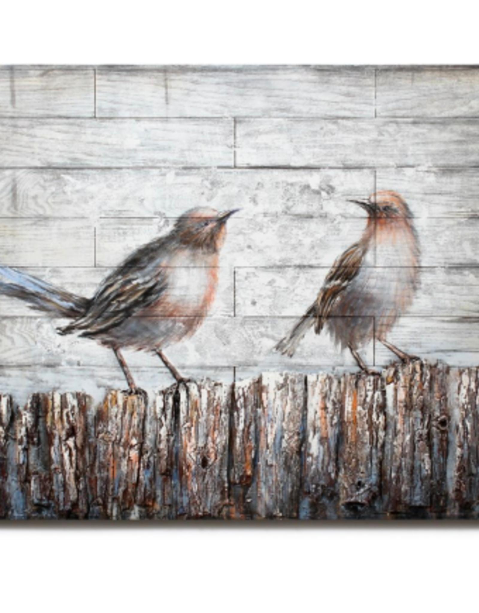 Art CJ 2 Birds on Fence