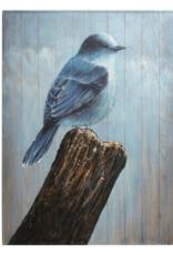 Art CJ Blue Bird on Branches