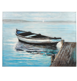 Art CJ Boat on Lake