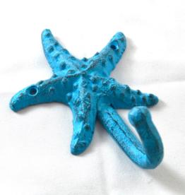 Nostalgia Hook Nostalgia Starfish Blue 9 x 5 x 12