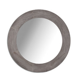 Style In Form Mirror SIF Round Bristol Dark Oak BOH-023