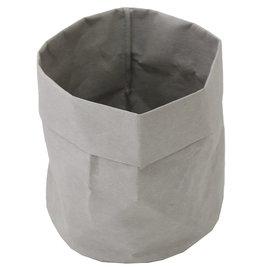 """Cathay Basket Cathay Paper Grey Medium 7"""" RND 21-0052"""