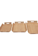 """Cathay Basket Cathay Bentwood Tray 21""""L 10-2456"""