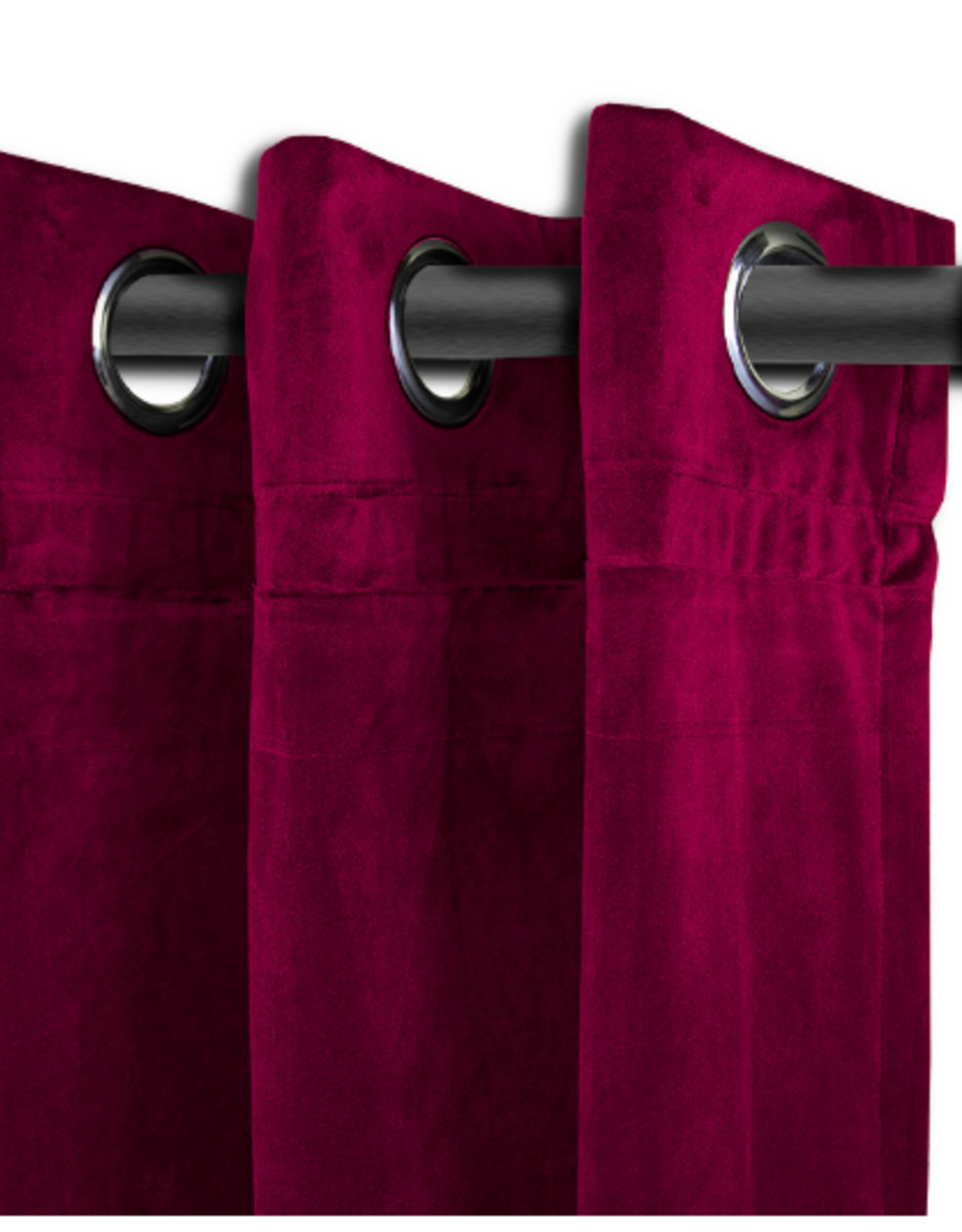 Alamode Home Curtains RJS Langtry Wine S/2