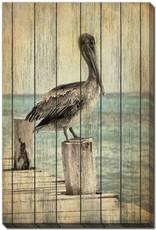 Streamline Art Vintage Pelican l 30 x 45