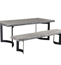 Moes Home Collection Moes Bent Bench Extra Small Weathered Grey VE-1038-29