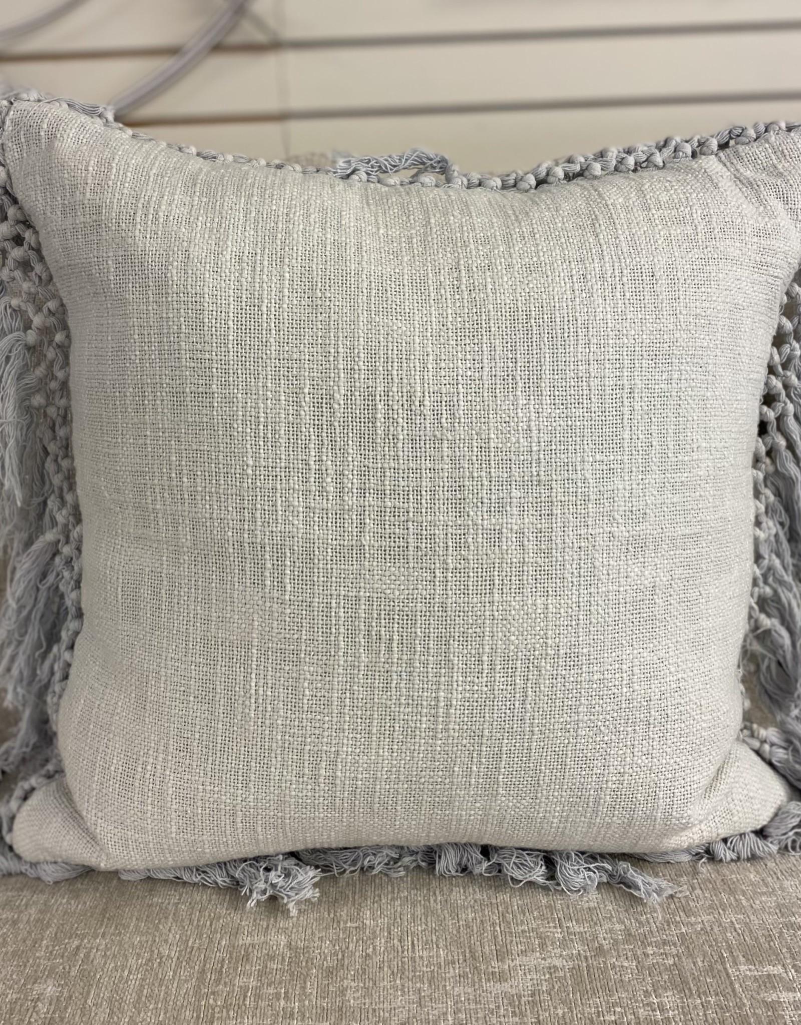 Cushions PC Grey Linen Fringe