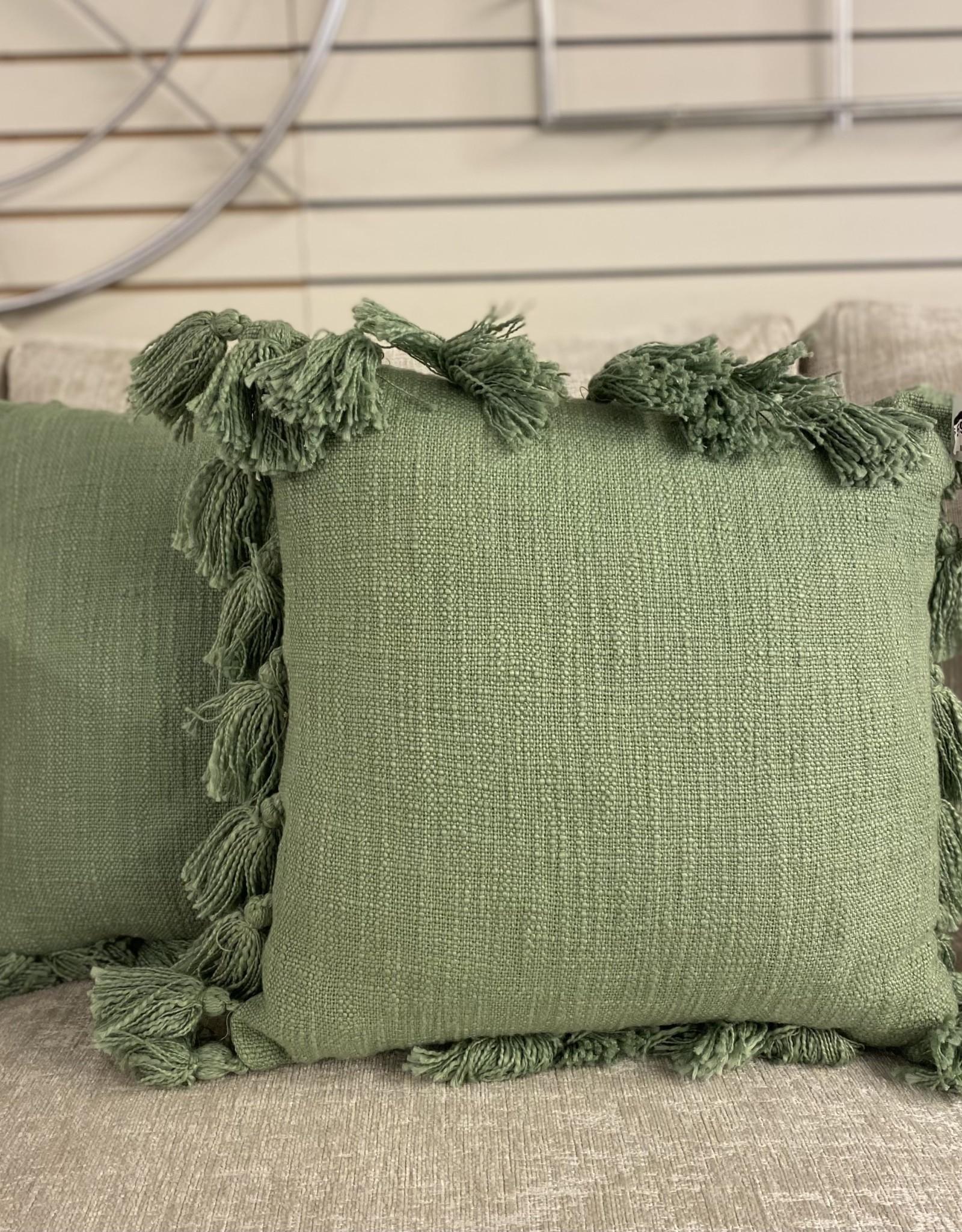 Cushions PC Green Tassels
