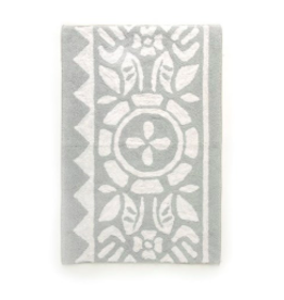 "Bath Mat PC Floral Light Grey 24"" x 36"""