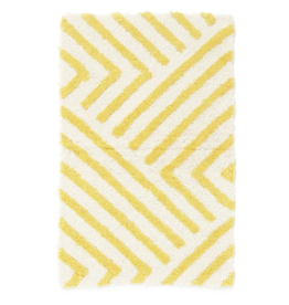 "Bath Mat PC Zig Zag Yellow 20"" x 32"""
