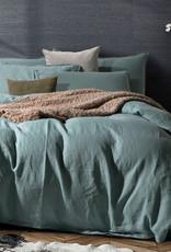 Daniadown Duvet Set Daniadown  Linen Stone Blue Queen w / Pillow Cases
